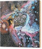 Thor's Helmet Nebula Wood Print