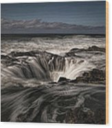 Thor's Well Or Cooks Chasm Wood Print