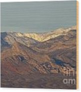 Those Beautiful Snow Cap Mountains Of Nv Wood Print