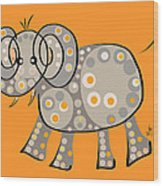 Thoughts And Colors Series Elephant Wood Print