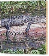 Thr Gator Wood Print