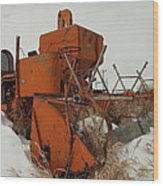 Thrashing The Snow Wood Print by Jeff Swan