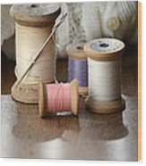Thread And Mending Wood Print