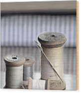 Thread And Needle Wood Print