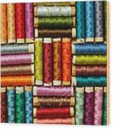 Thread Reels Wood Print