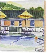 Three Amigos With Orange Beach Ball Wood Print by Kip DeVore