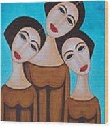 Three Angels Wood Print