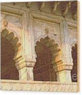 Three Arches At Sunrise Wood Print