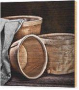 Three Basket Stil Life Wood Print