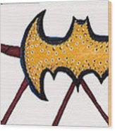 Three Bat Signals Wood Print