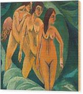 Three Bathers Wood Print