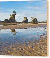 Three Brothers Rock Formation Near The Oregon Coast Wood Print