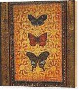 Three Butterflies Two Wood Print