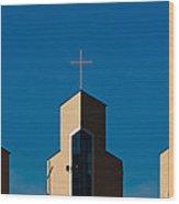 Three Crosses Of Livingway Church  Wood Print