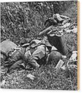 Three Dead U.s. Airborne Troops Wood Print