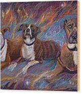 If Dogs Go To Heaven Wood Print