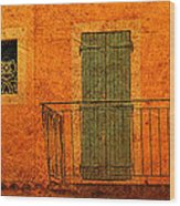 Three Doors In Provence Wood Print