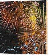 Three Explosions Wood Print