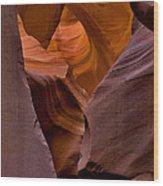 Three Faces In Sandstone Wood Print