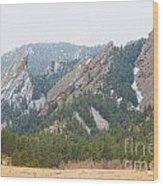 Three Flatirons Boulder Colorado Wood Print