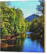 Three Forks Williams River Early Fall Wood Print by Thomas R Fletcher