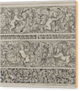 Three Friezes With Leaf Tendrils, Anthonie De Winter Wood Print