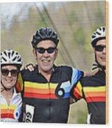 Three Gran Fondo Riders Wood Print
