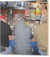 Three Guys In A Bar Wood Print