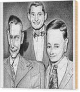 Three Guys Wood Print
