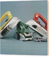 Three Irons By Casco Products Wood Print