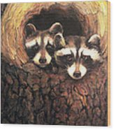 Three Is A Crowd Wood Print