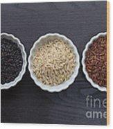 Three Kinds Of Rice Wood Print