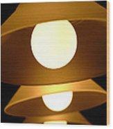 Three Lights Wood Print