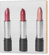 Three Lipsticks Wood Print