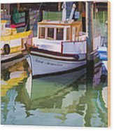Three Little Boats Wood Print