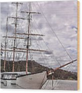 Three Mast Sail Boat Wood Print