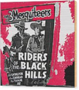 Three Mesquiteers Poster 1938 Store Window Ghost Town Madrid New Mexico 1968 Wood Print