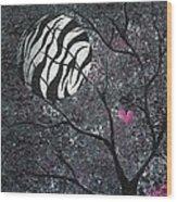 Three Moons Series - Zebra Moon Wood Print