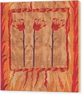 Three Of Wands Wood Print