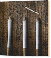 Three On A Match Wood Print