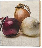 Three Onions - 1 Wood Print