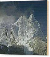 1m4503-three Peaks Of Mt. Index Wood Print
