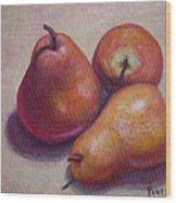 Three Pears #2 Wood Print