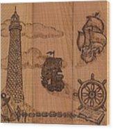 Three Piece Composition Wood Print