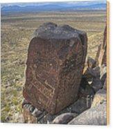 Three Rivers Petroglyphs 3 Wood Print