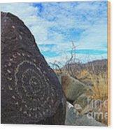 Three Rivers Petroglyphs 5 Wood Print