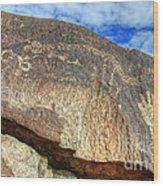 Three Rivers Petroglyphs 6 Wood Print