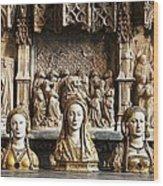 Three Saints In Marble Wood Print