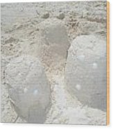 Three Sand Castles Wood Print