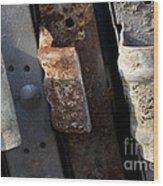 Three Shades Of Rust Wood Print